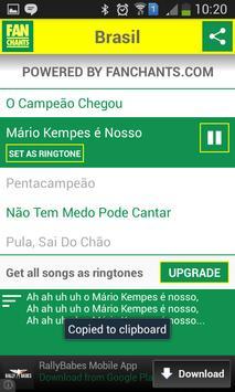 Brazil Songs World Cup 2014 screenshot 5