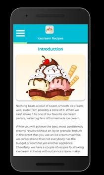 Icecream Recipes screenshot 1