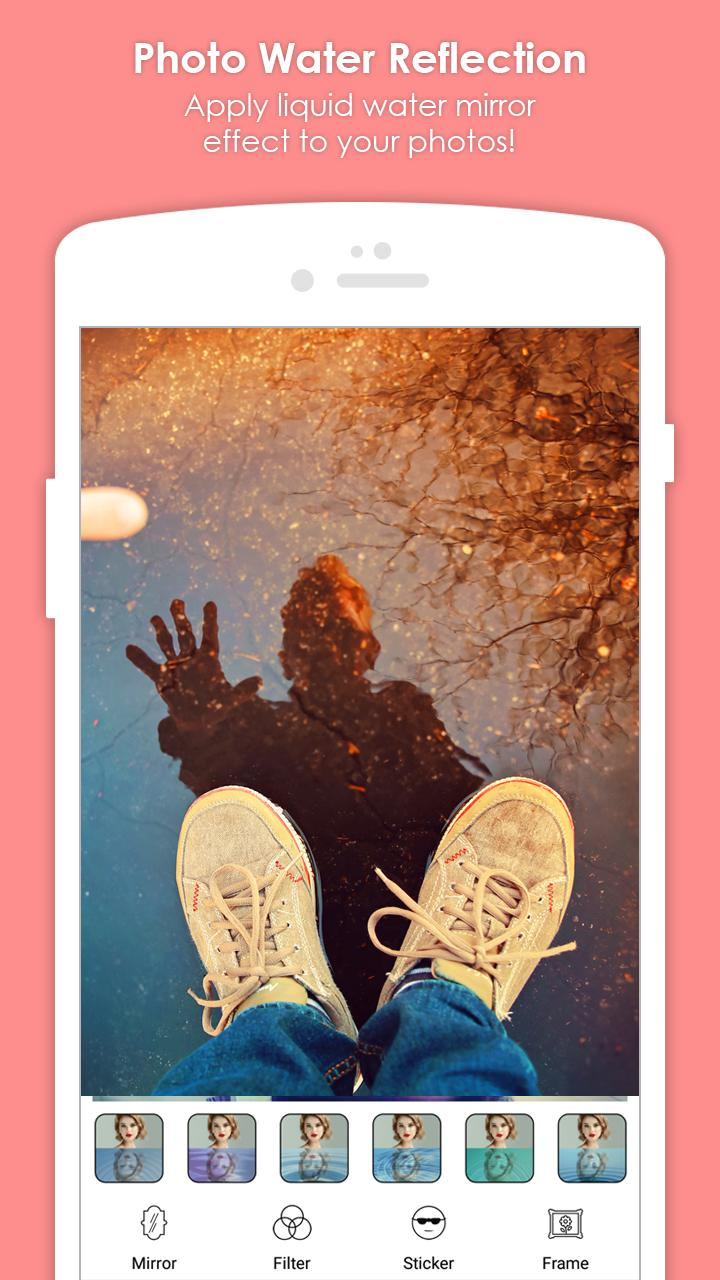 Photo Water Reflection Effect: Mirror Photo Editor for