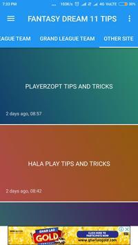 Grand 11-Ipl,Psl,Dream 11 Tips and Dream 11 Team screenshot 3