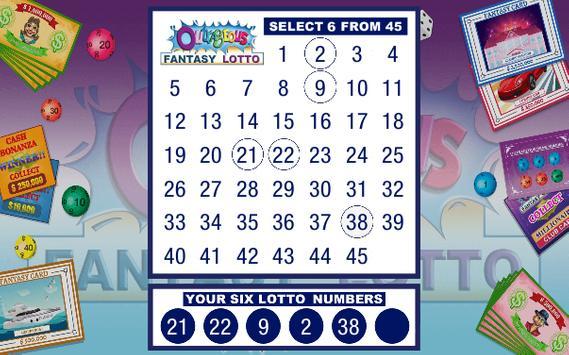 Outrageous Fantasy Lotto screenshot 1