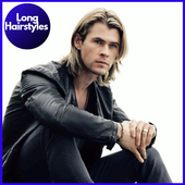 Hairstyles for Long Hair Men (Offline) icon