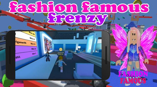 Fashion Famous Frenzy Dress Up Runway Show obby poster
