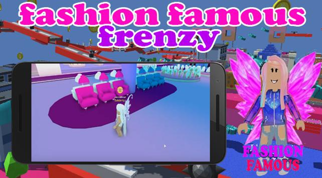 Fashion Famous Frenzy Dress Up Runway Show obby screenshot 3