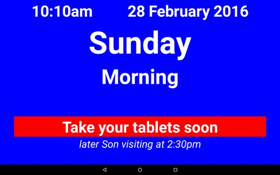 Dementia/Digital Diary/Clock screenshot 1