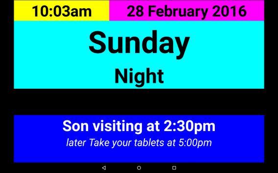 Dementia/Digital Diary/Clock screenshot 3