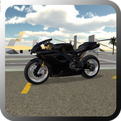 Fast Motorcycle Driver-icoon
