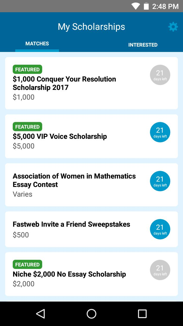 Scholarships For Women Fastweb >> Fastweb For Android Apk Download