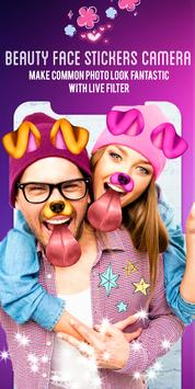 Beauty face stickers camera. screenshot 13