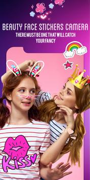 Beauty face stickers camera. screenshot 1
