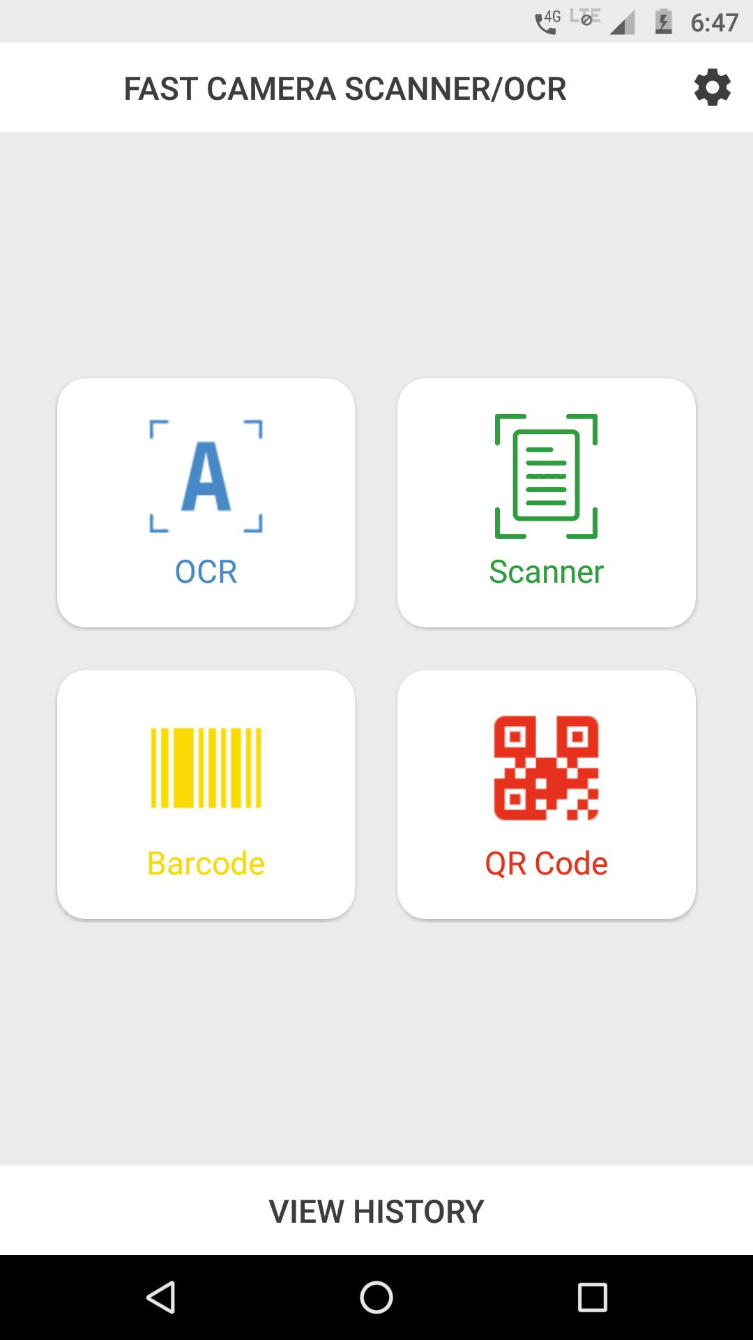 Fast Camera Scanner/OCR/Barcode scan/QRcode Scan for Android
