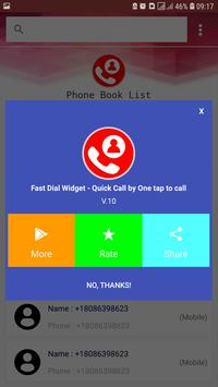 Fast Dial Widget - Quick Call by One tap to call screenshot 2