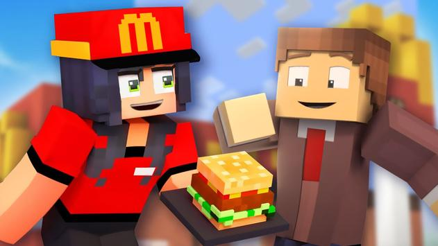 Fast Food Restaurant Mod for Minecraft plakat