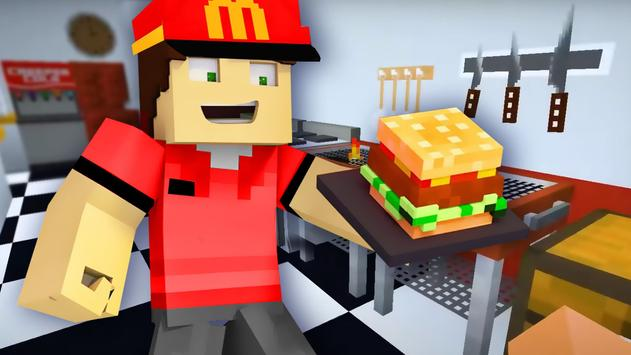 Fast Food Restaurant Mod for Minecraft imagem de tela 2