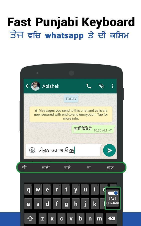 Fast Punjabi Keyboard -Easy Punjabi English Typing for Android - APK