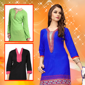 Girl Kurti Fashion Photo shoot icon