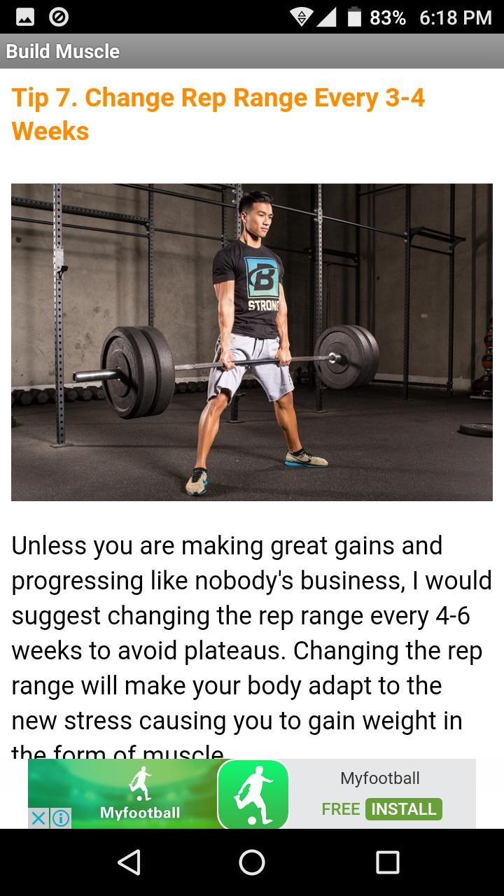 Build Muscle Lose Fat Naturally for Android - APK Download