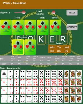 Poker 7 Calculator poster