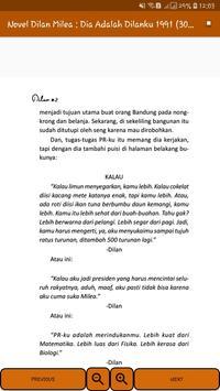Novel Dilan Milea 2 : Dia Adalah Dilanku 1991 screenshot 12
