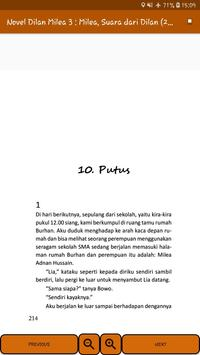 Novel Dilan Milea 3 : Milea, Suara Dari Dilan screenshot 14