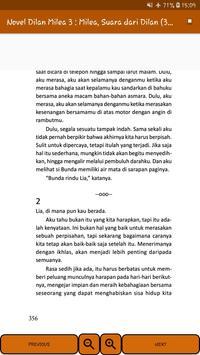 Novel Dilan Milea 3 : Milea, Suara Dari Dilan screenshot 15