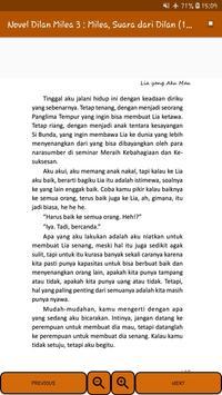 Novel Dilan Milea 3 : Milea, Suara Dari Dilan screenshot 13