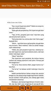 Novel Dilan Milea 3 : Milea, Suara Dari Dilan screenshot 4