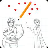 Como desenhar animes e desenhos icon