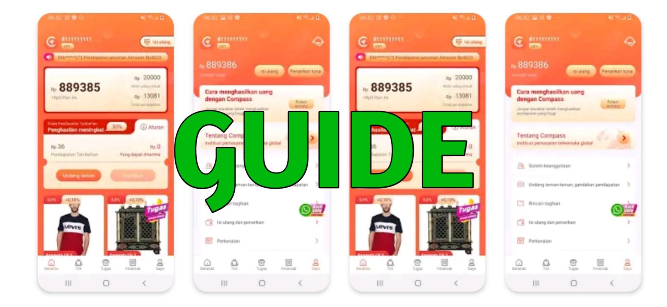 New Guide Compass Penghasil Uang For Android Apk Download