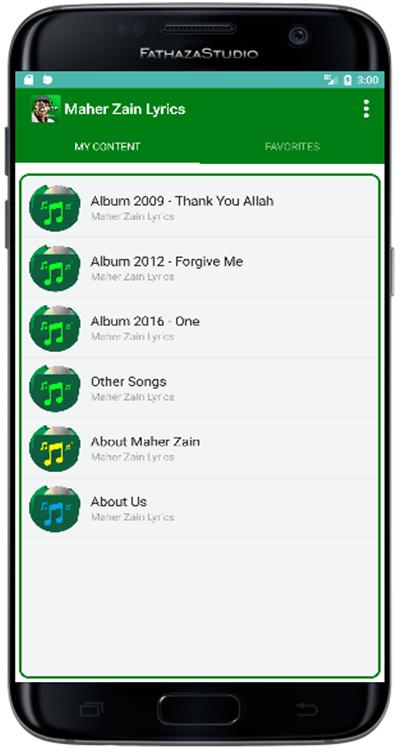 Maher Zain Song Lyrics Full Offline for Android - APK Download