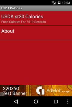 USDA Calories poster