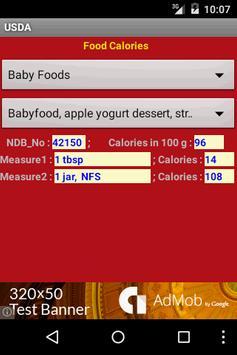 USDA Calories screenshot 1