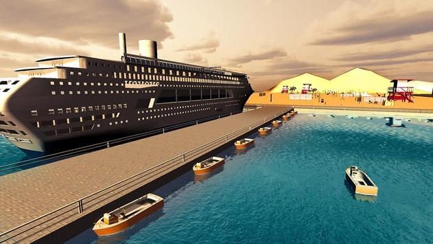 Tourist Transport Ship Game - Cruise Ship Driving screenshot 2