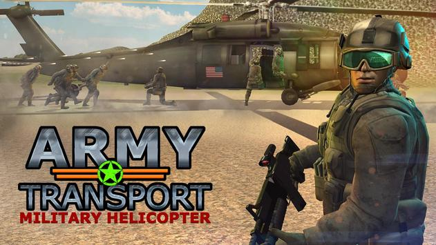 Real Army Helicopter Simulator Transport Games poster