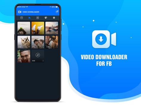 F Downloader: Video Download for Facebook 포스터
