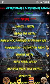 Heavy Metal and Rock music radio poster