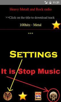 Heavy Metal and Rock music radio screenshot 1