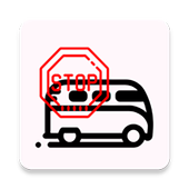 Simple bus stop icon