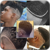 Black Men Line Hairstyle simgesi