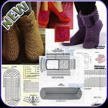 Crochet Pattern Slippers poster