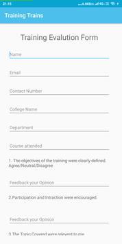 Training Trains Feedback and Registration screenshot 1
