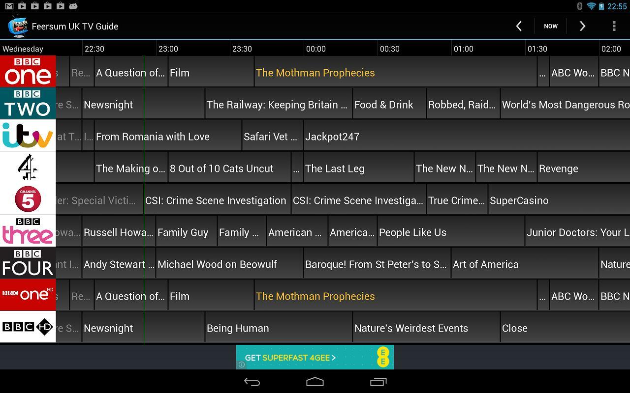 Feersum UK TV Guide for Android - APK Download