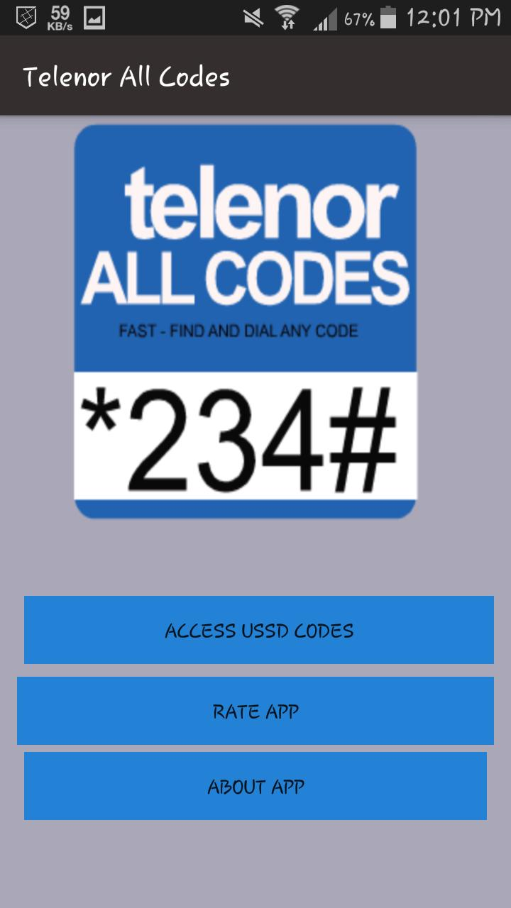 Telenor All Codes for Android - APK Download