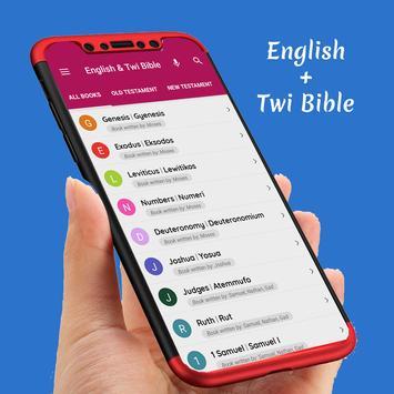 Super English & Twi Bible poster