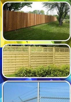 yard fence design poster