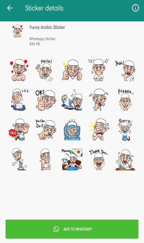 Funny Arabic Sticker For Wastickerapps For Android Apk Download