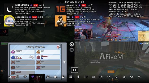 3 Schermata SmartTV Client for Twitch