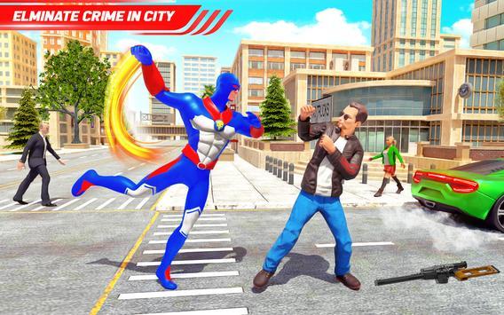 Flying Police Robot Rope Hero: Gangster Crime City screenshot 17