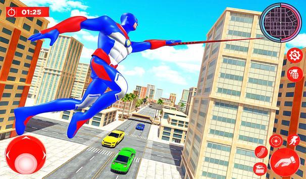 Flying Police Robot Rope Hero: Gangster Crime City screenshot 6