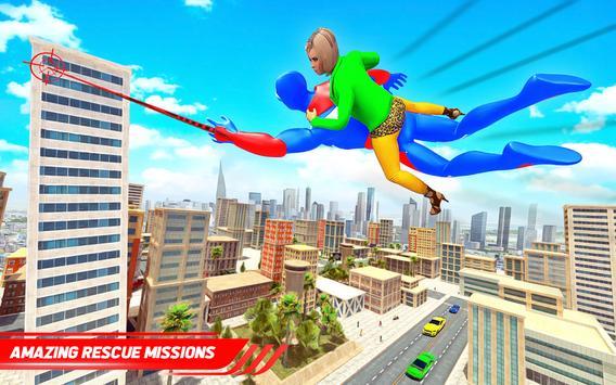 Flying Police Robot Rope Hero: Gangster Crime City screenshot 14